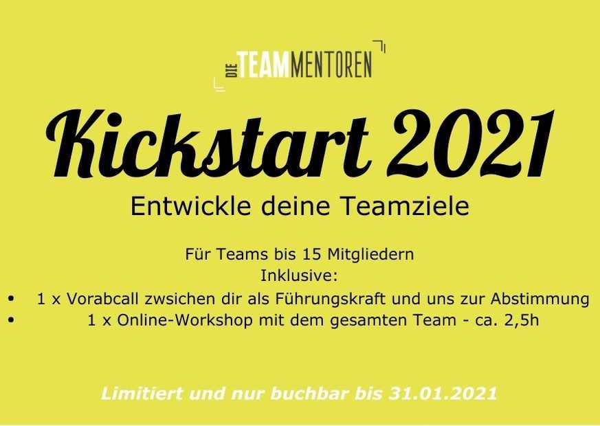 Entwickle deine Teamziele: Kickstart 2021!